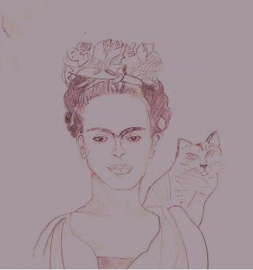 """inspiré de l'""""Autoportrait au collier d'épines"""" de Frida Kahlo  (1940)"""