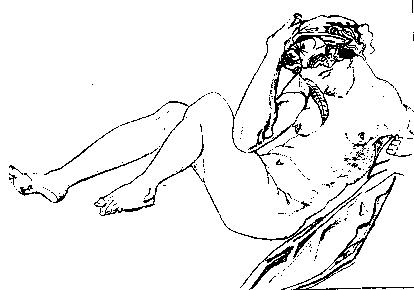 """inspiré de l'""""Allégorie de la Nuit"""" de Michele di Ridolfo del Ghirlandaio, d'après Michel-Ange (1553-1555)"""