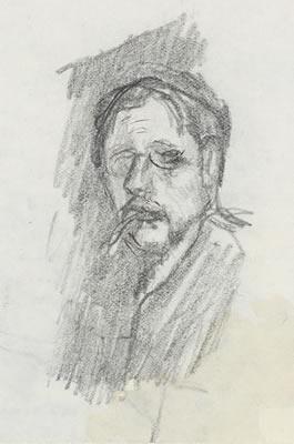 """Pierre Bonnard, """"Autoportrait"""", vers 1904, crayon graphite, achat avec l'aide du Fram, 2010"""