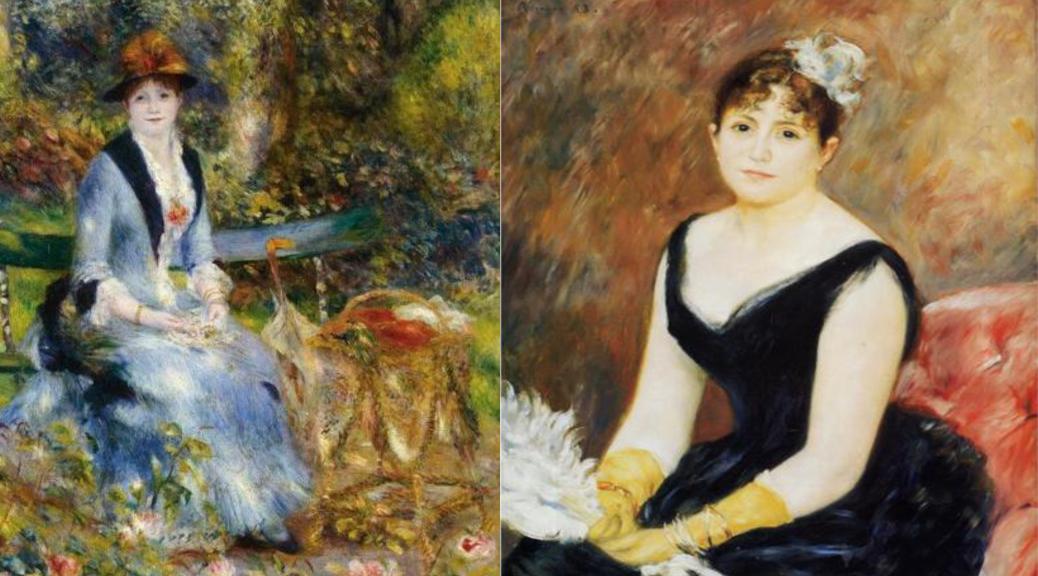 """Portraits de Madame Léon Clapisson, 1882 (""""Dans les roses""""), et 1883"""