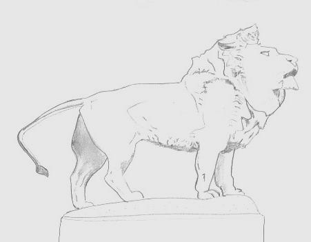 un des deux lions postés à l'entrée de l'Art Institute de Chicago