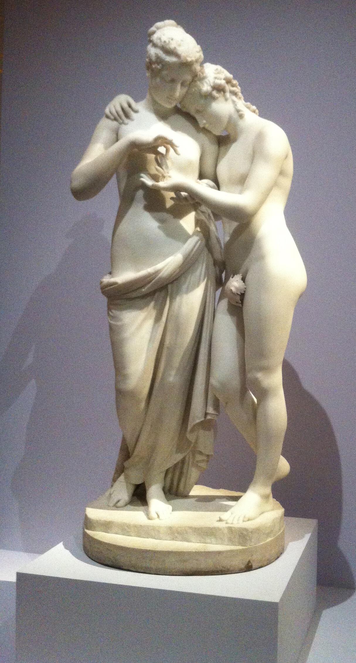 Statue figurant l'Amour et Psyché commandée par Joséphine à Canova après en avoir vu une autre version