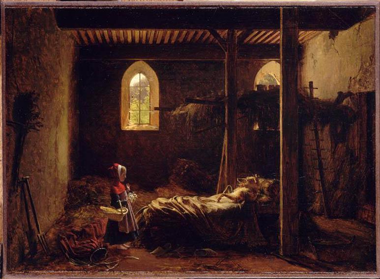 Fleury François Richard, Le petit chaperon rouge, vers 1820