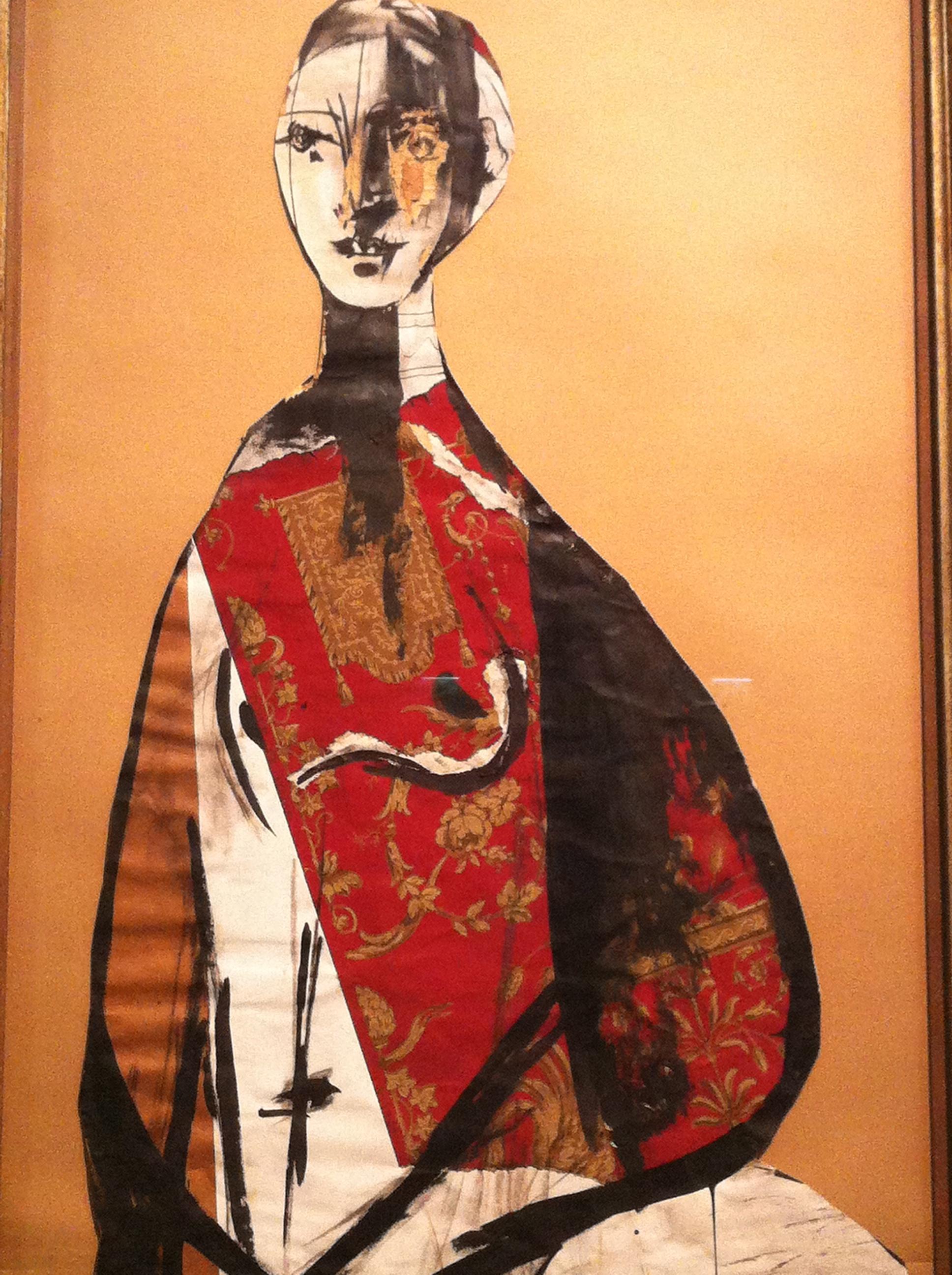 Pablo Picasso, Portrait de femme, 1928, gouache, encre et collage sur papier