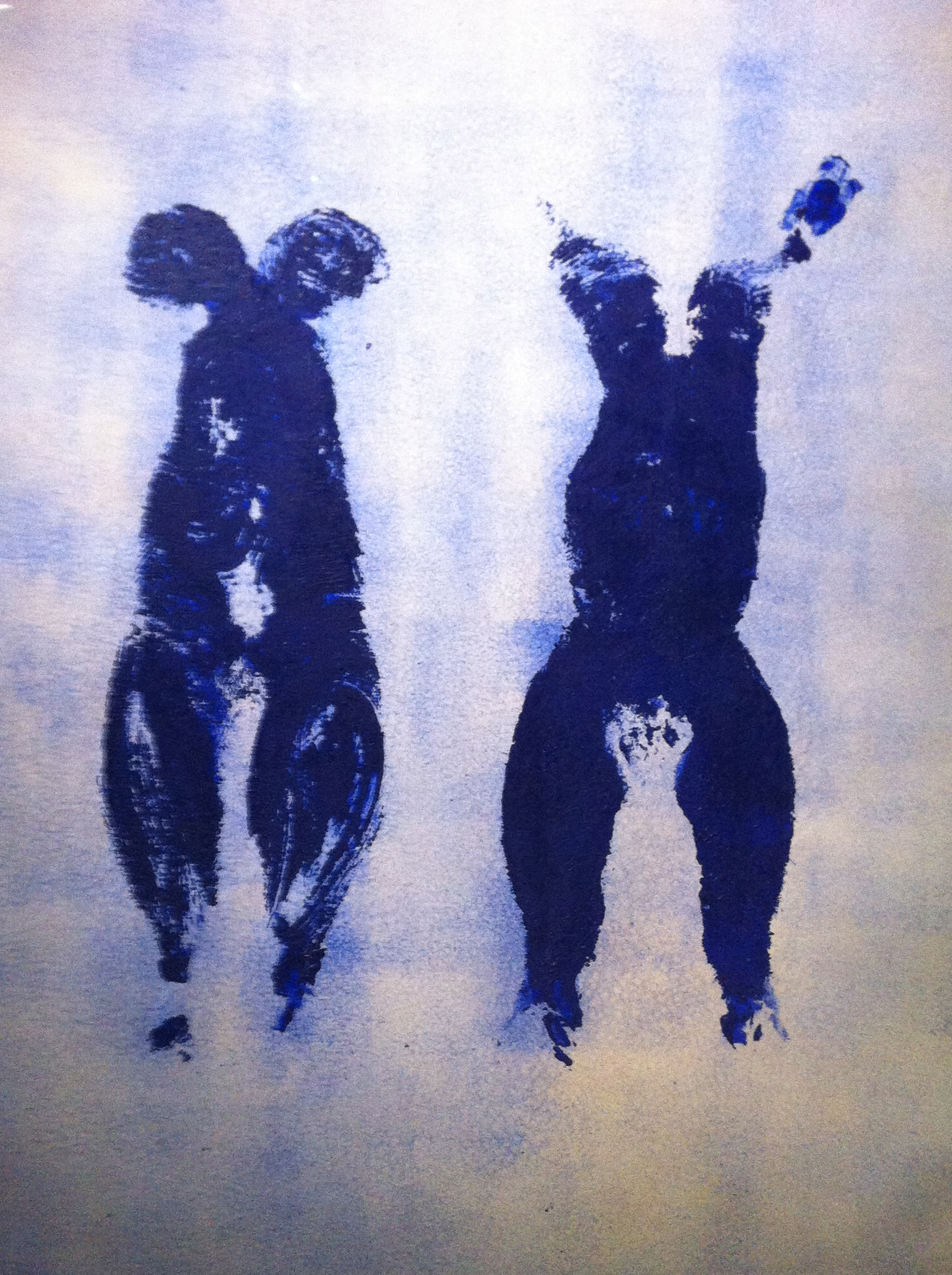 Yves Klein, Anthropométrie (ANT 110), France, Paris, 1960, pigments sur papier marouflé sur toile