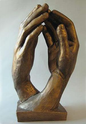 Auguste Rodin, La Cathédrale, 1908