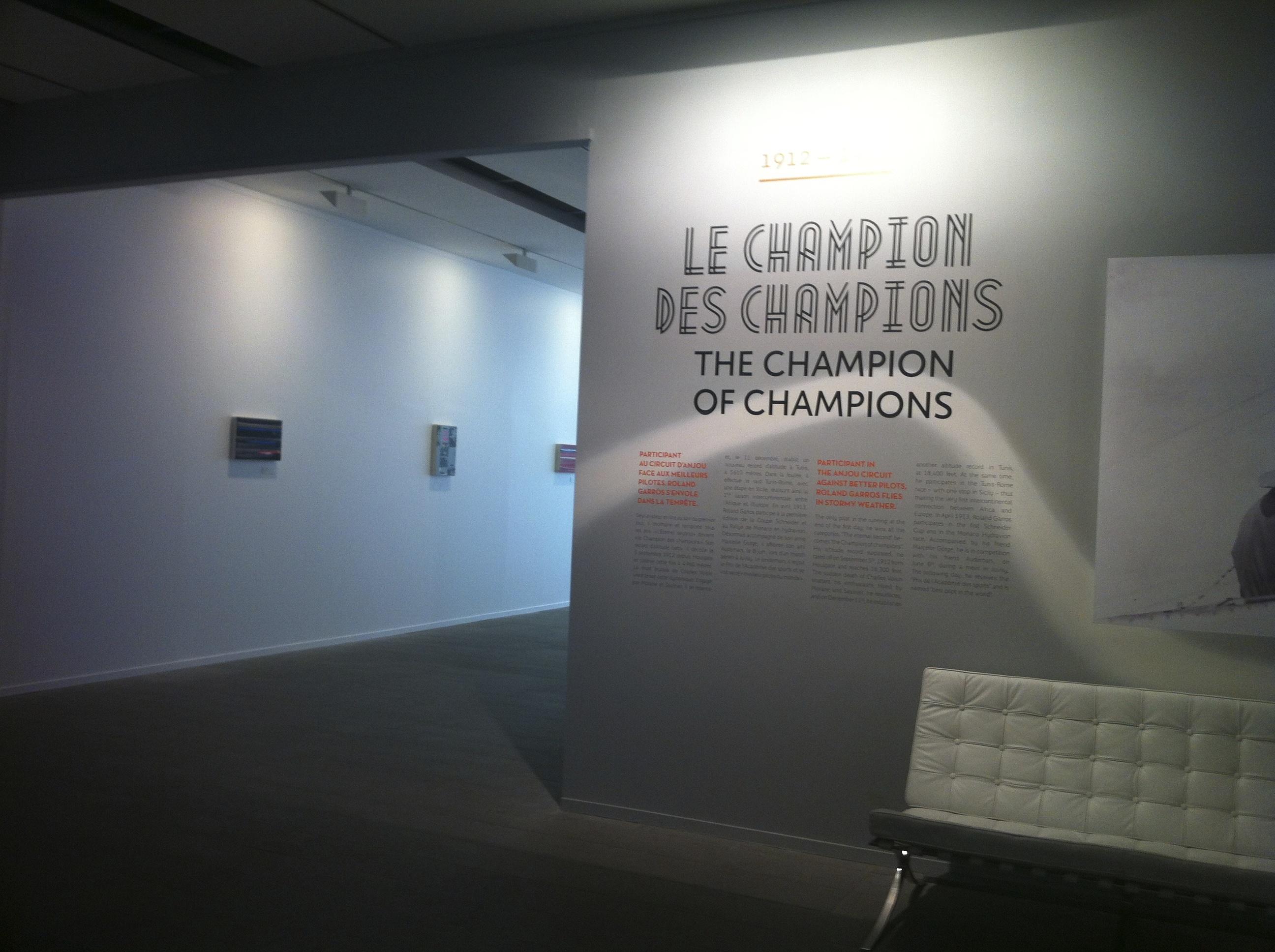 """En 1912, Roland Garros se distingue comme l'un des rares survivants du circuit d'Anjou. De là, son nouveau surnom : """"le champion des champions""""."""