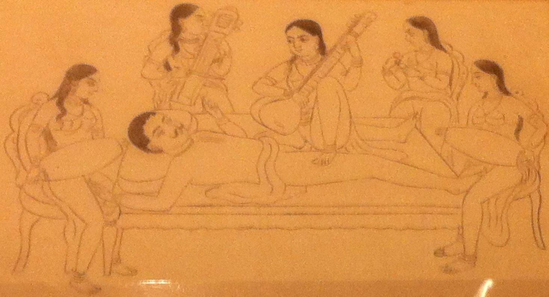 Orgie à 6.    > Khaka, école de Jaipu, 1830-1850
