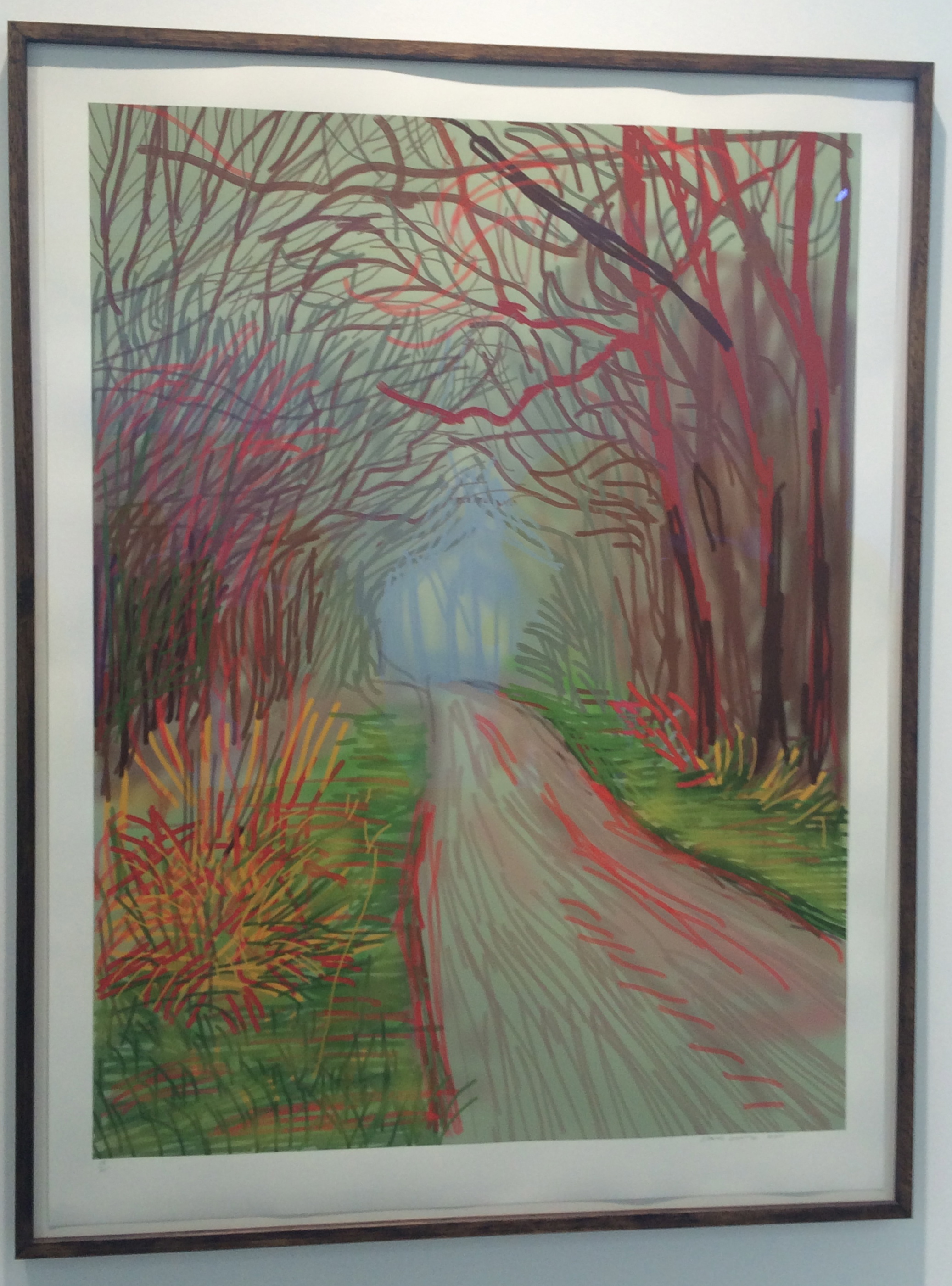 "David Hockney, ""The Arrival of Spring in Woldgate, East Yorkshire"", 2011"