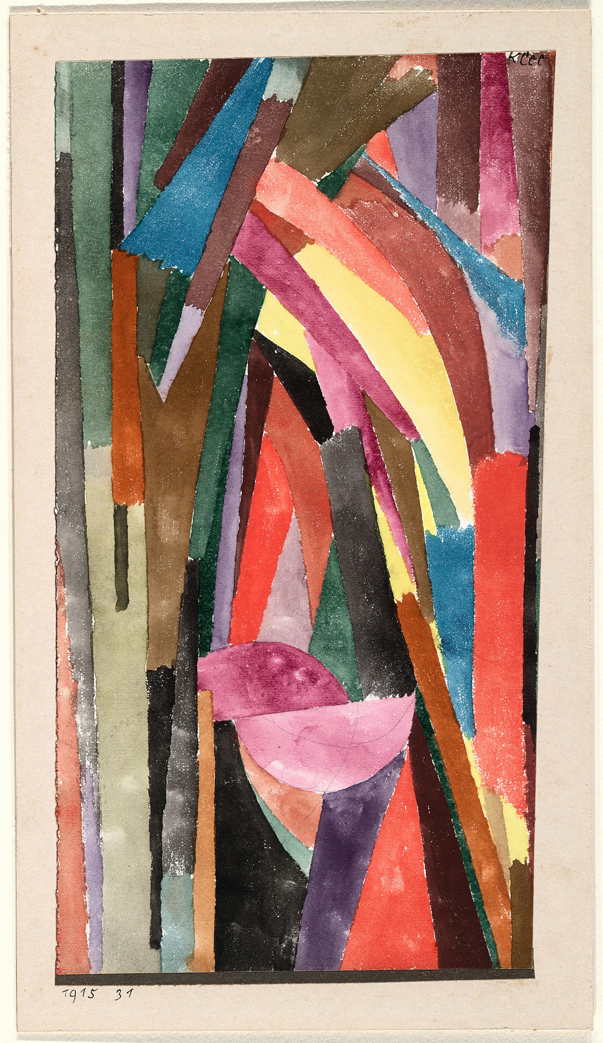 PAUL KLEE (Lustig) [Lachende Gothik] [(Drôle) [Gothique joyeux]], 1915